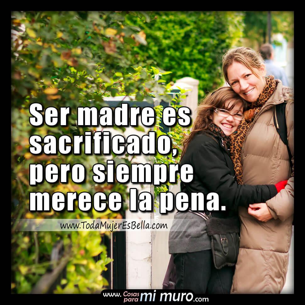 Ser madre es sacrificado pero merece la pena